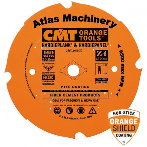 CMT Fibre Cement Diamond Blade for TS55 Saws - 4 Tooth, 20mm Bore
