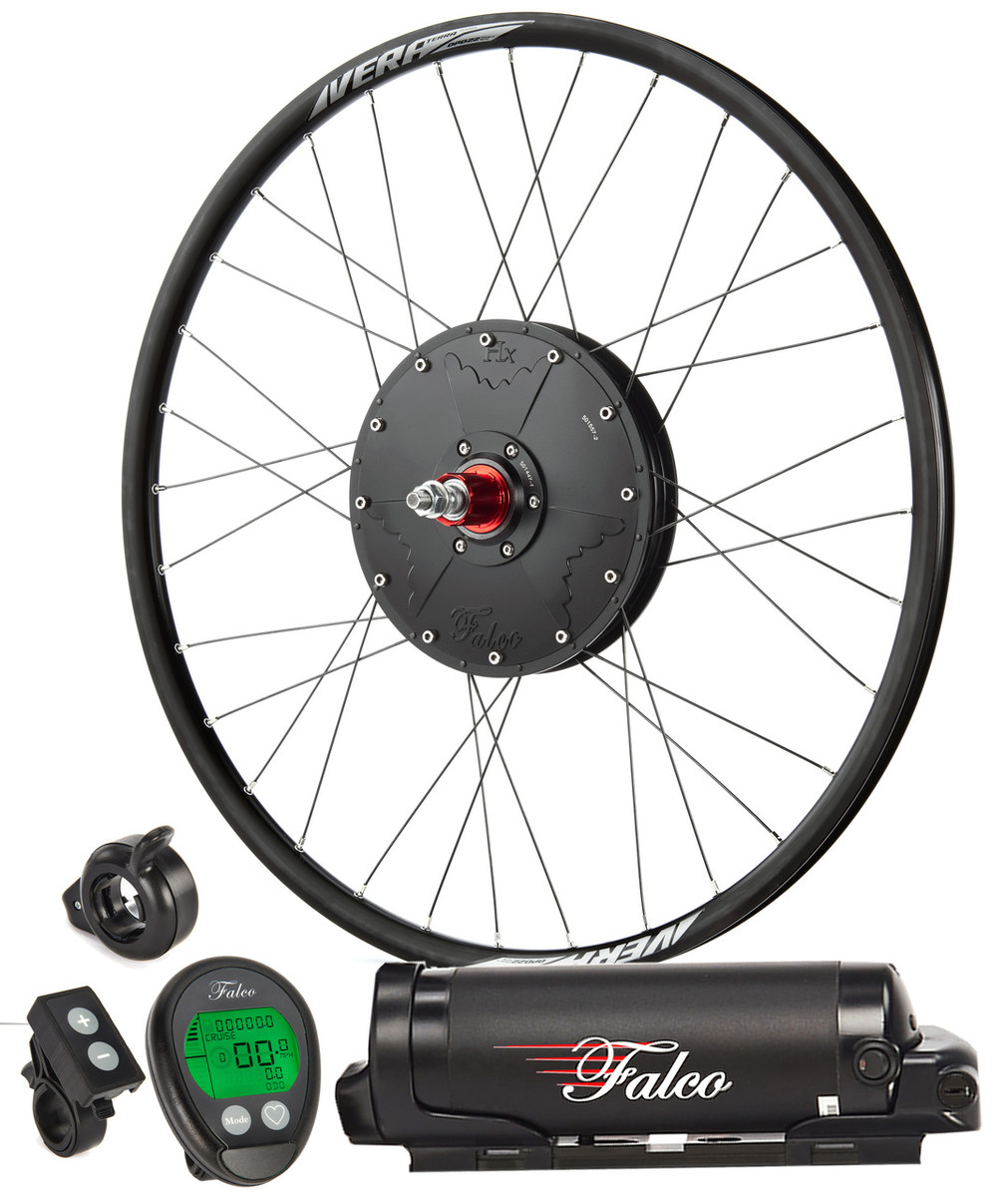 Falco e5.3 System (2017 Model) - 500W/400Wh includes fully built wheel, battery console, plus minus, throttle etc.