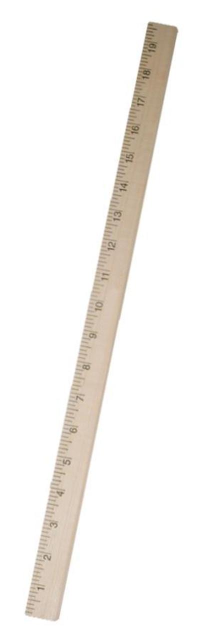 Half meterstick 50 cm hardwood for Schreibtisch 2 50 meter