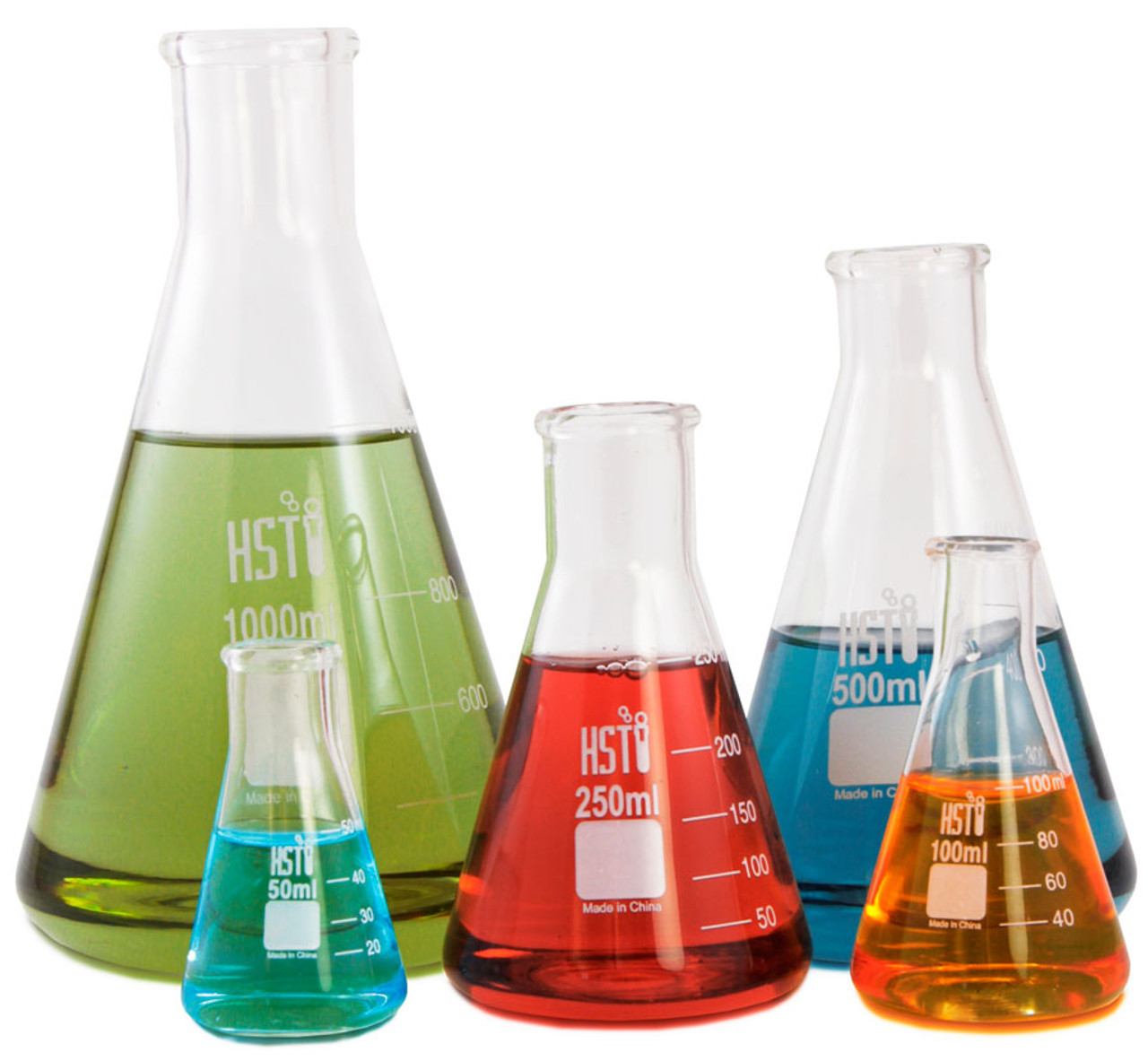 Erlenmeyer Flasks | Set of 5 | 50 ml to 1000 ml