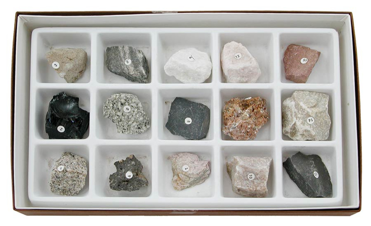 Introductory Rock Collection 15 Specimens