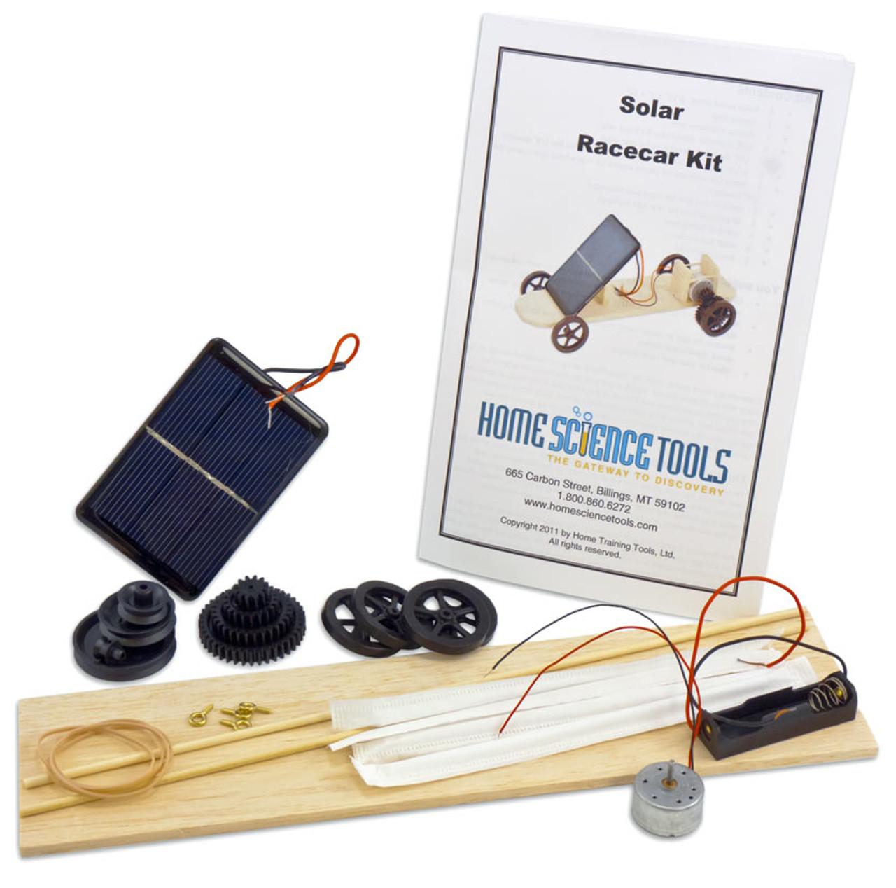 Solar Powered Electric Motor Kit: Solar Race Car Experiment Kit