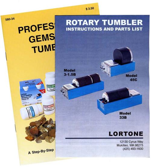 Deluxe Double Barrel Rock Tumbler Kit Lortone
