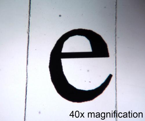 """Letter """"e"""", w.m."""