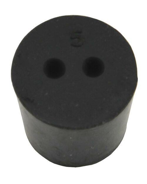 Rubber Stopper, #5, 2-hole