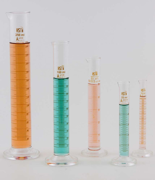 Graduated Cylinders, glass, set of 5