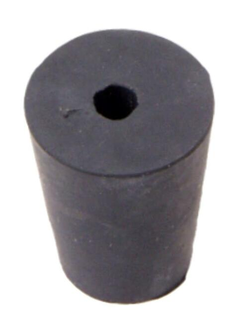 Rubber Stopper, #1, 1-hole