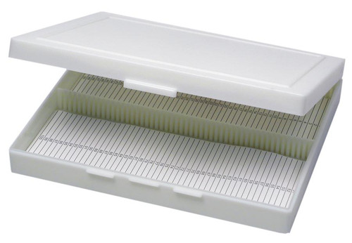 Microscope slide storage box, 100 slides