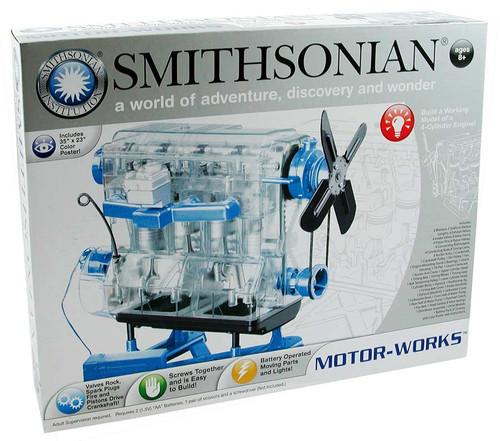 smithsonian motorworks engine kit box