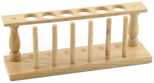 Test Tube Rack, 6 holes, wood