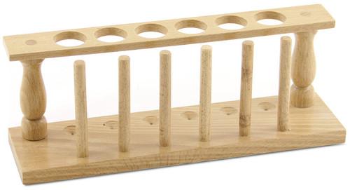 Test Tube Rack, 6 holes, wood