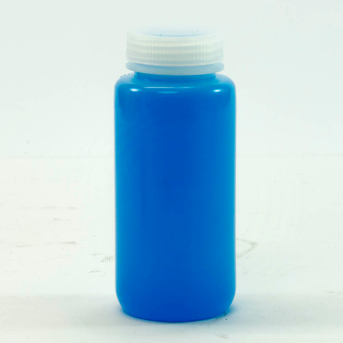 Bottle, 500 ml (16 oz), natural HDPE plastic, wide mouth