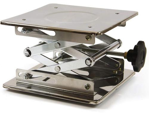"Laboratory Scissor Jack, 8"" x 8"", stainless steel"