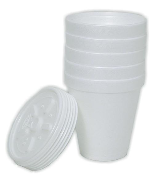 Styrofoam Cups, 8 oz, 5 pack