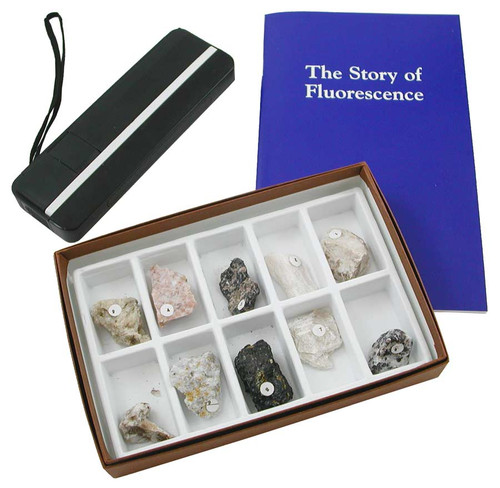 Fluorescent Minerals Kit - Shortwave