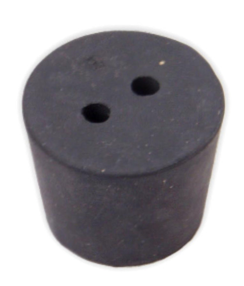 Rubber Stopper, #6.5, 2-hole