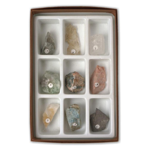 Mineral Scale of Hardness Set, 9 specimens