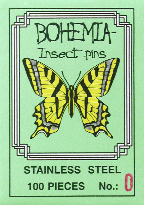 Insect Pins, size 0, stainless steel