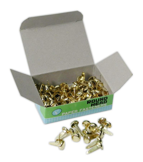 """Brass Brads, 3/8"""", 100 pack"""