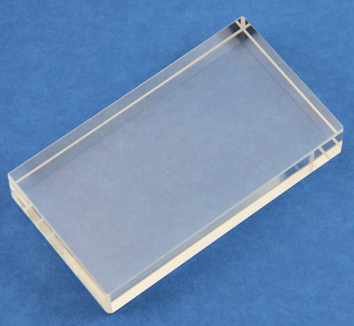 Refraction Block, rectangular, glass