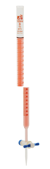 Burette, 100 ml, PTFE Stopcock