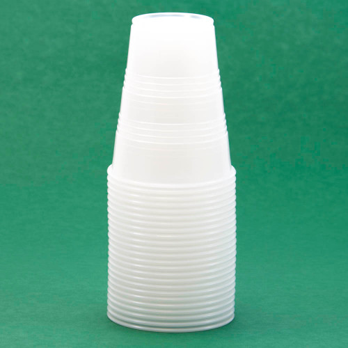 Cup, clear plastic, 9 oz, 25/pack