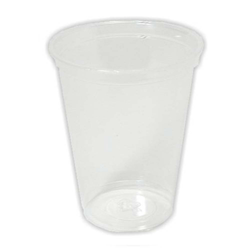 Cup, clear plastic, 8 oz, 3 pack