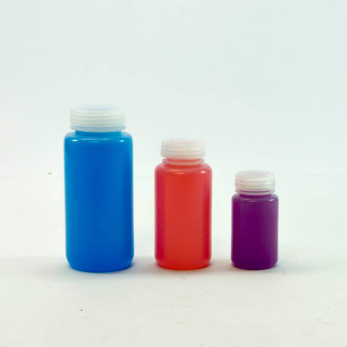 Bottle, 250 ml (8 oz), natural HDPE plastic, wide mouth