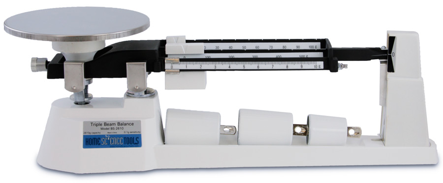 triple beam balance 2610 g three beam scale from home science tools