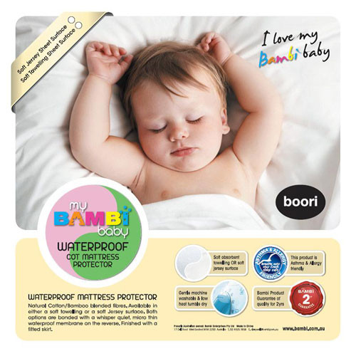Bambi Cotton/Bamboo Waterproof Stretch Knit Cot Mattress Protector