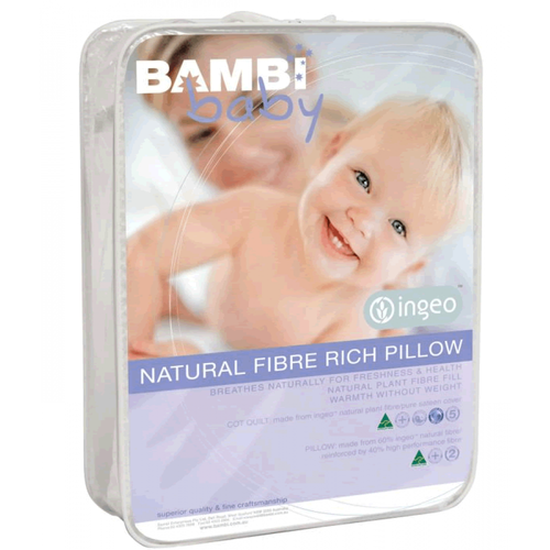 Bambi Baby Ingeo Natural Plant Fibre Baby Pillow