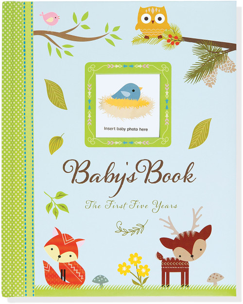 baby milestone book woodland friends the first 5 years