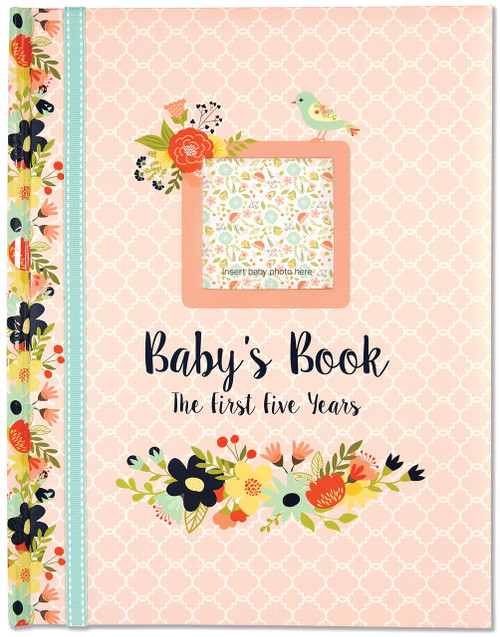 baby milestone book floral the first 5 years