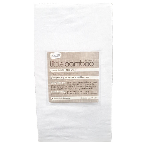 Little Bamboo Large Cradle Fitted Sheet