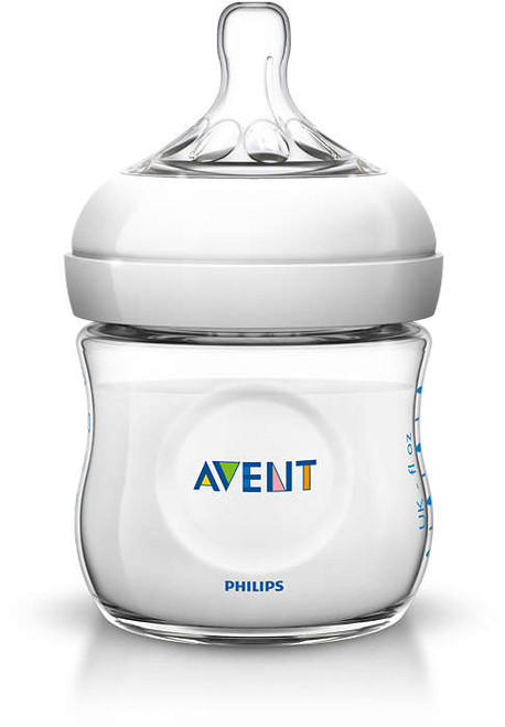 AVENT - Natural Baby Bottle 125ml, Newborn Flow Nipple