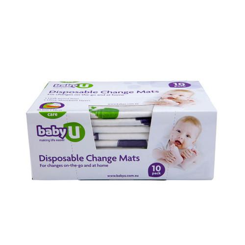 Baby U Disposable Change Mats 10 Pk