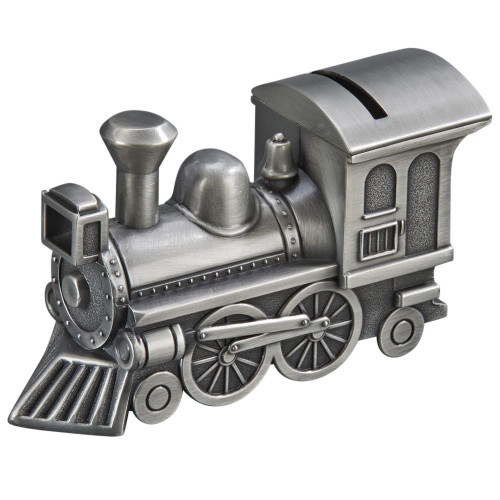 Train Money Box Pewter Finish