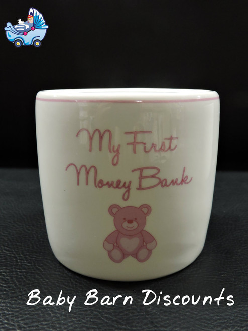 Carte Blanche - My First Money Bank Teddy - Pink