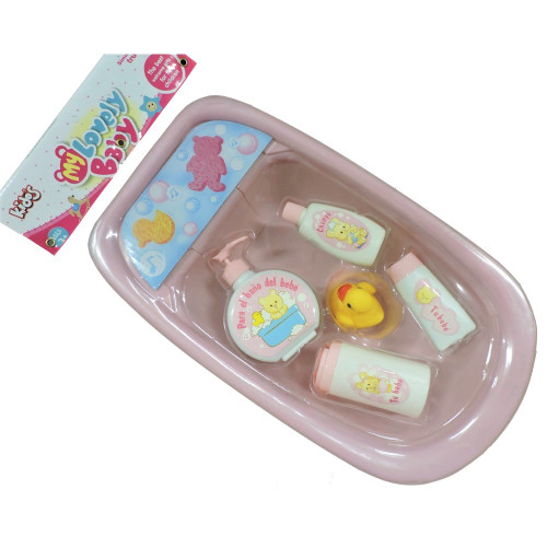 La Belle Doll Pink Bath Tub