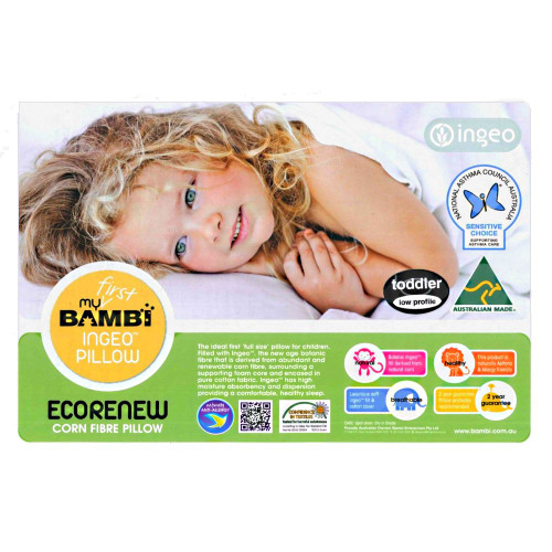 Bambi Ingeo Corn Fibre Toddler Pillow - 68cm x 42cm