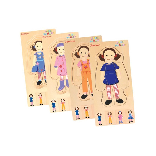 Discoveroo Play School Dress Up Jemima Layer Puzzle