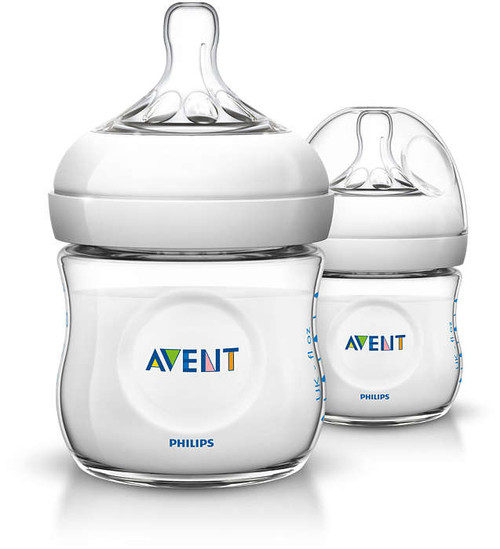 AVENT - Natural Baby Bottle 125ml with Newborn Flow Nipple - Twin Pack