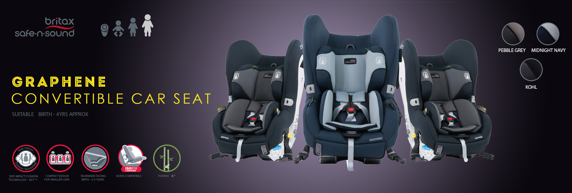 Britax Safe n sound Graphene Convertible Car Seat