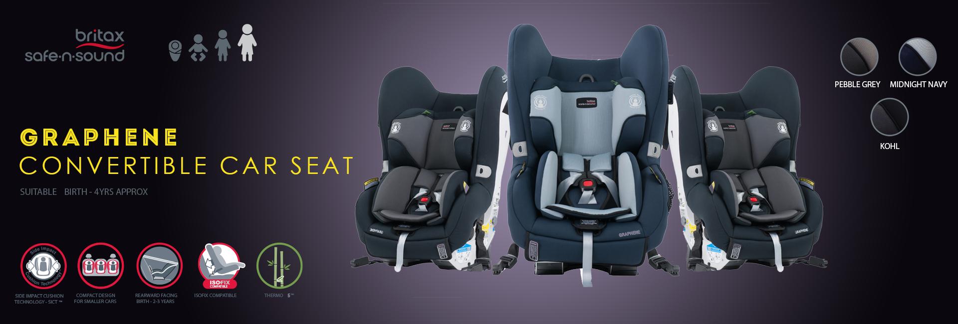 Britax Safe n sound Graphene Convertible Car Seat