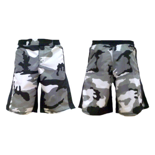 Grey Urban Camouflage MMA Fight Shorts