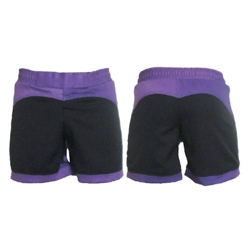 Black and Purple Female Fight Shorts