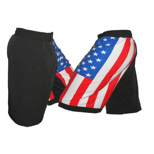 USA Flag MMA Fight Shorts