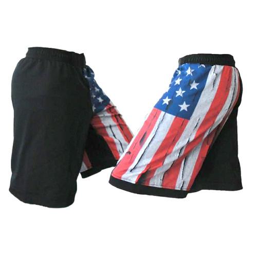 USA Distressed Flag MMA Fight Shorts