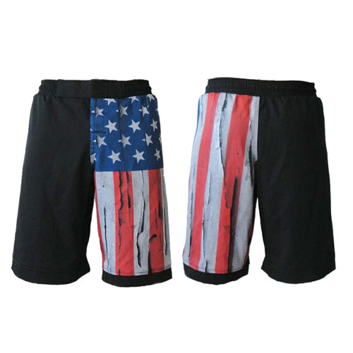 USA Distressed Flag MMA Fight Shorts
