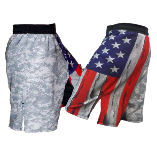 USA Flag & ACU Fight Shorts
